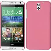 Hardcase for HTC Desire 610 rubberized pink
