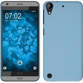 Hardcase für HTC Desire 630 gummiert hellblau