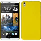 Hardcase for HTC Desire 816 rubberized yellow