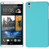 Hardcase für HTC Desire 816 gummiert hellblau