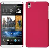 Hardcase for HTC Desire 816 rubberized hot pink