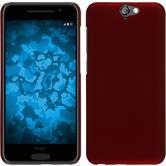 Hardcase für HTC One A9 gummiert rot