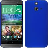 Hardcase for HTC One E8 rubberized blue