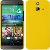 Hardcase for HTC One E8 rubberized yellow
