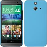 Hardcase for HTC One E8 rubberized light blue