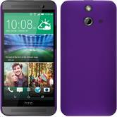 Hardcase for HTC One E8 rubberized purple