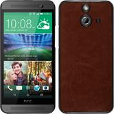 Hardcase for HTC One E8 leather optics brown