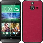 Hardcase for HTC One E8 leather optics hot pink