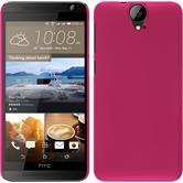 Hardcase One E9+ gummiert pink + 2 Schutzfolien