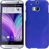 Hardcase for HTC One M8 rubberized blue