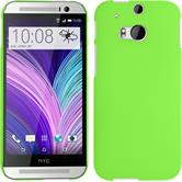 Hardcase for HTC One M8 rubberized green