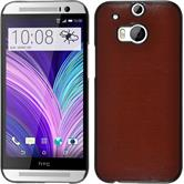 Hardcase for HTC One M8 leather optics brown