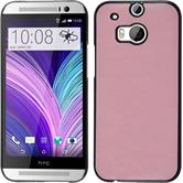Hardcase for HTC One M8 leather optics pink