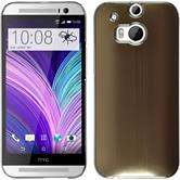Hardcase for HTC One M8 metallic gold