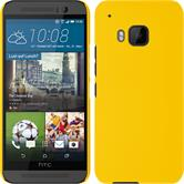 Hardcase for HTC One M9 rubberized yellow