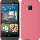 Hardcase for HTC One M9 rubberized pink