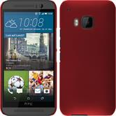 Hardcase for HTC One M9 rubberized red