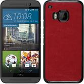 Hardcase for HTC One M9 leather optics red