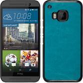 Hardcase for HTC One M9 leather optics turquoise