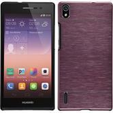 Hardcase für Huawei Ascend P7 Metallic rosa