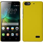 Hardcase für Huawei Honor 4c gummiert gelb
