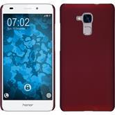 Hardcase Honor 5C gummiert rot + 2 Schutzfolien
