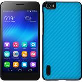 Hardcase Honor 6 Carbonoptik blau
