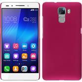 Hardcase für Huawei Honor 7 gummiert pink