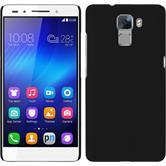 Hardcase für Huawei Honor 7 gummiert schwarz