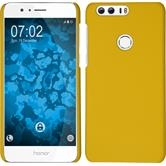 Hardcase für Huawei Honor 8 gummiert gelb