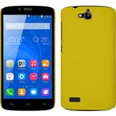Hardcase for Huawei Honor Holly rubberized yellow