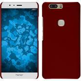 Hardcase Honor V8 gummiert rot + 2 Schutzfolien