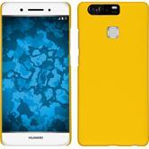 Hardcase für Huawei P9 gummiert gelb