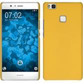 Hardcase P9 Lite gummiert gelb + 2 Schutzfolien