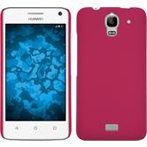 Hardcase Y360 gummiert pink + 2 Schutzfolien
