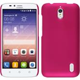 Hardcase for Huawei Y625 rubberized hot pink