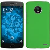 Hardcase Moto E4 gummiert grün