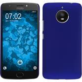 Hardcase Moto E4 Plus gummiert blau