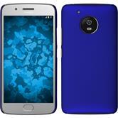 Hardcase Moto G5 gummiert blau + 2 Schutzfolien
