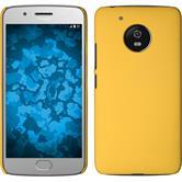 Hardcase Moto G5 gummiert gelb + 2 Schutzfolien