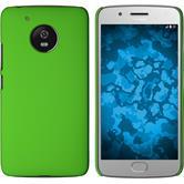 Hardcase Moto G5 gummiert grün + 2 Schutzfolien