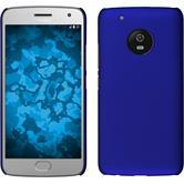 Hardcase Moto G5 Plus gummiert blau + 2 Schutzfolien