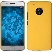 Hardcase Moto G5 Plus gummiert gelb + 2 Schutzfolien
