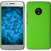 Hardcase Moto G5 Plus gummiert grün + 2 Schutzfolien