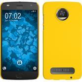 Hardcase Moto Z2 Play gummiert gelb + 2 Schutzfolien
