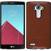 Hardcase for LG G4 leather optics brown