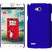 Hardcase for LG L80 Dual rubberized blue