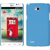 Hardcase for LG L80 Dual rubberized light blue