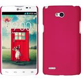 Hardcase for LG L80 Dual rubberized hot pink