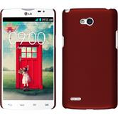 Hardcase for LG L80 Dual rubberized red